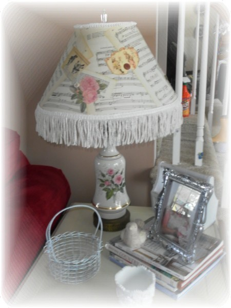 decoupage lampshade