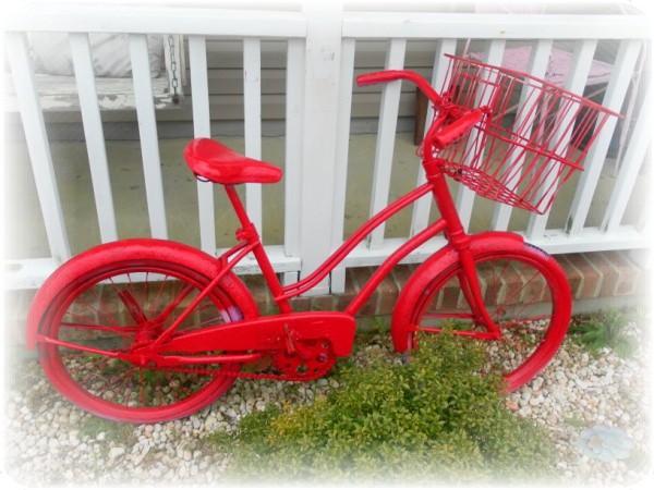 vintage bike garden art