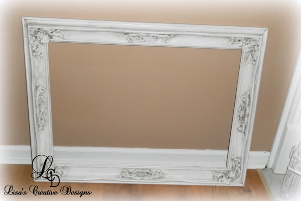 antiqueing a frame