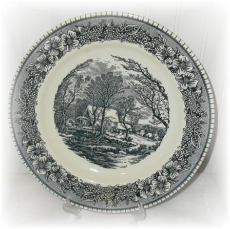 transferware dinner plate