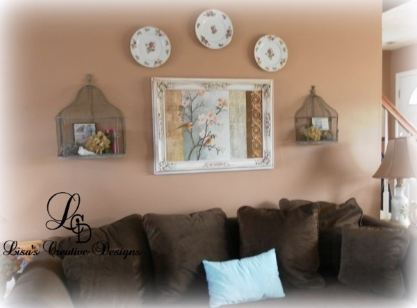 decorating a living room with plates