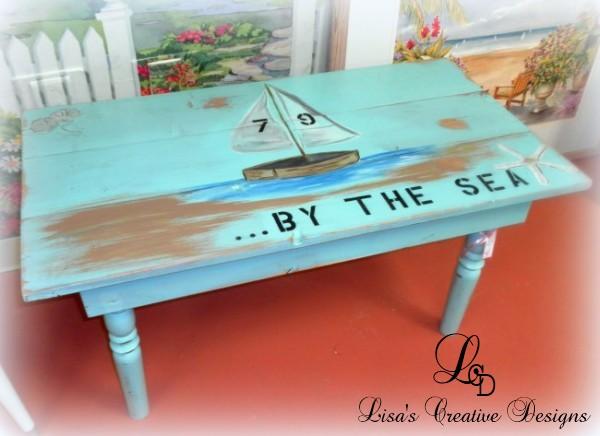 beach inspired coffee table
