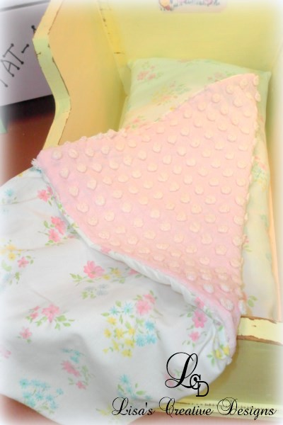 vintage doll bedding