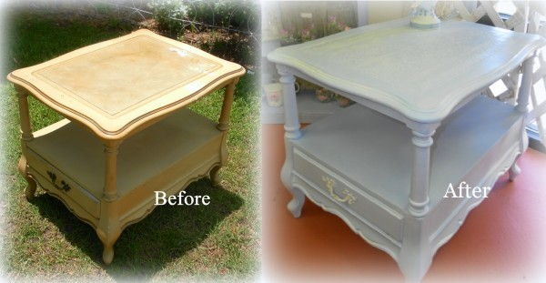 Before and After Table Makeover