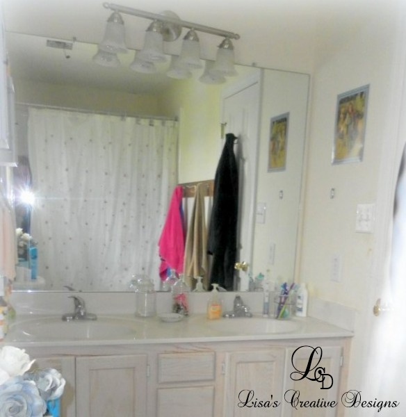 How To Put Up A Bathroom Mirror: How To Dress Up A Boring Bathroom Mirror