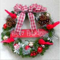 Handmade Country Christmas Wreath