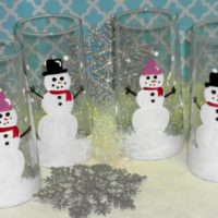 Hand Painted Snowman Glasses