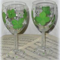 St. Patrick's Day Wine Glasses