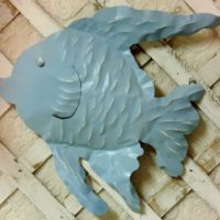 Sky Blue Metal Fish Wall hanging