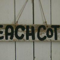 Shabby Beach Cottage Sign
