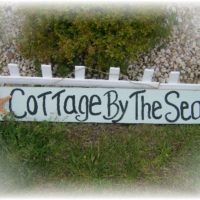 Cottage By The Sea Hand Painted Sign