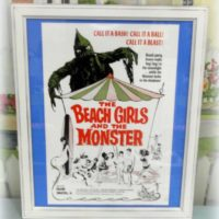 Framed Retro Movie Poster The Beach Girls and The Monster