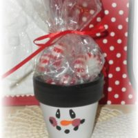 Hand Painted Snowman Christmas Candy Favor