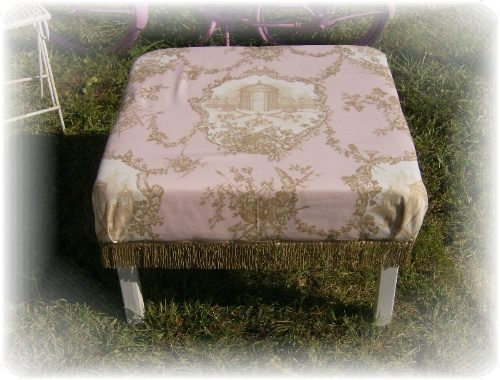 Handmade shabby chic braemore garden rose pink toile for Toile shabby chic