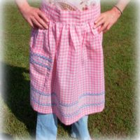 Handmade Pink Gingham Country Apron