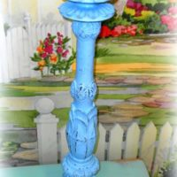 Large Shabby Beach Distressed Candle Stick