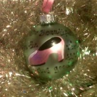 Personalized Hand Painted Shoe Christmas Tree Ornament
