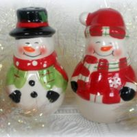 snowman Christmas Salt and Pepper Shakers