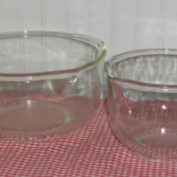 Vintage Clear Glass Mixing Bowls