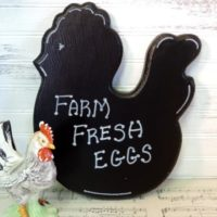 Chalkboard Painted farmhouse Country Chicken Fresh Eggs Sign