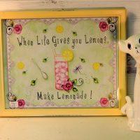When Life Give Your Lemons Make Lemonade Framed Country Print