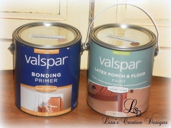valspar floor paint and bonding primer