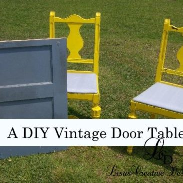 A DIY Vintage Door Table Furniture Project