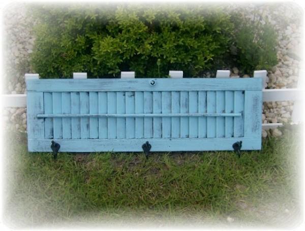 Vintage Shutter Coat rack