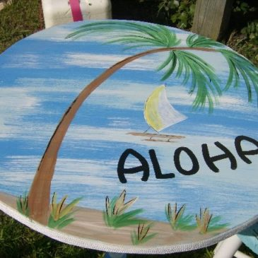 A Shabby to Chic Beachy Bistro Set