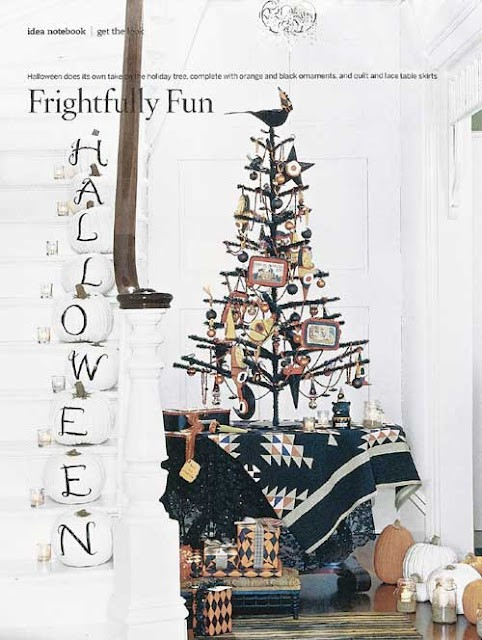 Country Living Inspired Spooky Halloween Tree