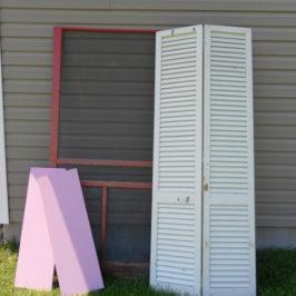 Old Screen Door Makeover