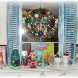 A Vintage Inspired Kitschy Christmas Mantel