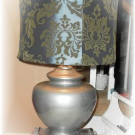 A Lamp Makeover…Creating Faux Mercury Glass