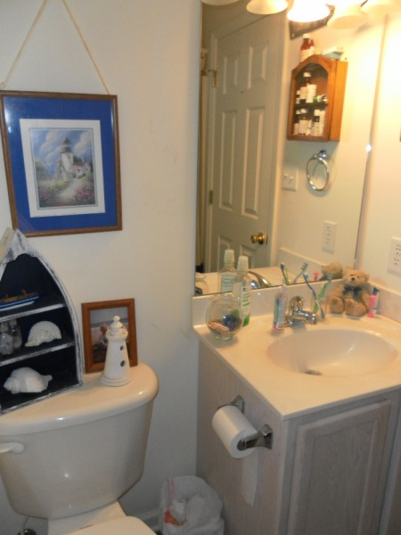Beach Bathroom Makeover Before