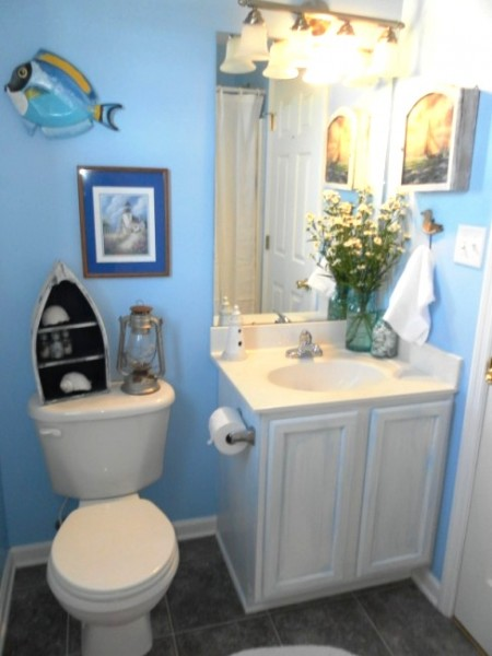 beach bathroom redesign after