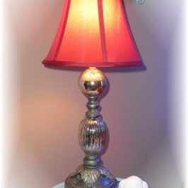 Another Mercury Glass Lamp Makeover