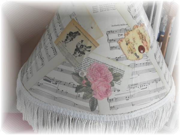 decoupage lamp shade