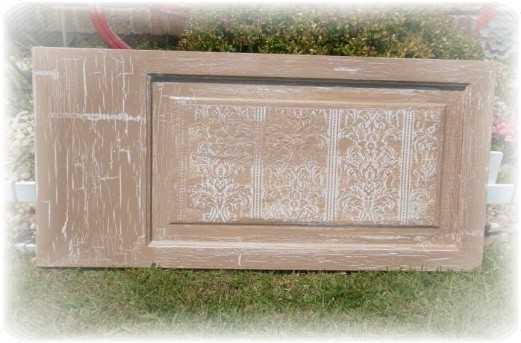 beige crackle door panel