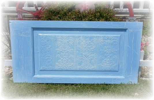 blue crackle door panel