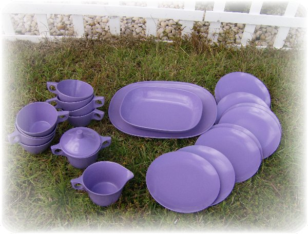 purple melamine set