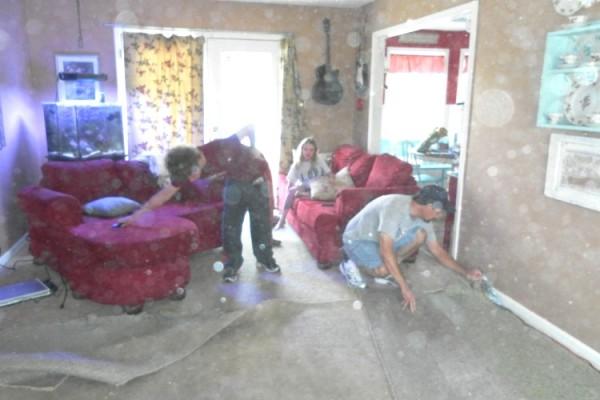 Ripping Up Livingroom Rug