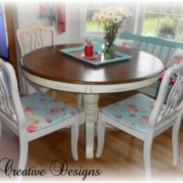 Flea Market Style Design…New Cottage Chic Kitchen Chairs
