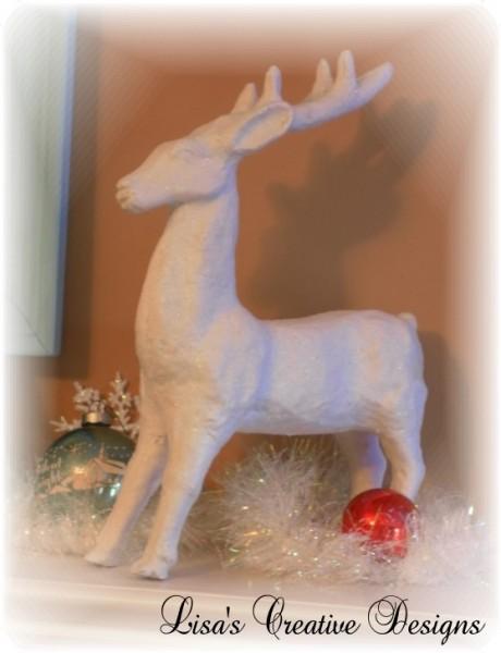 White Glittered Reindeer