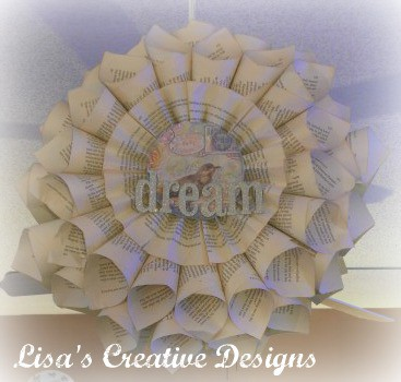 Book Page Dream wreath