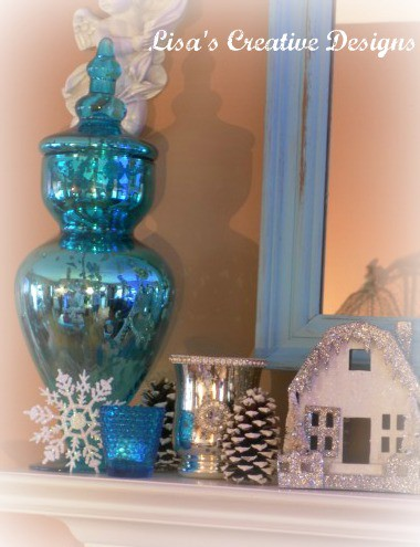 aqua mercury glass from Home Goods