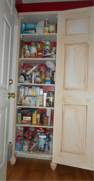 upcycled door pantry