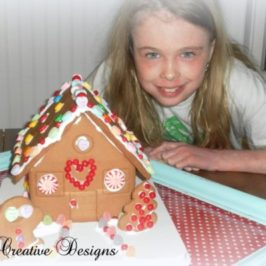 A Valentine Gingerbread House