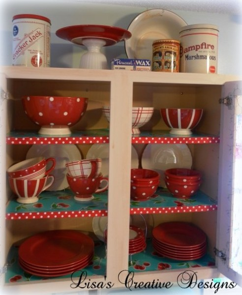 red white polka dotted dishes