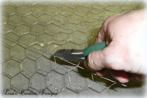 cutting chicken wire