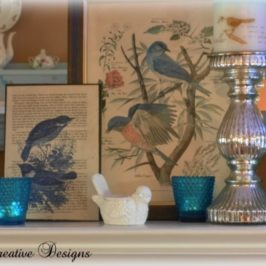 (Re) Decorating A Mantel….Less Is More???